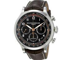 Baume & Mercier Men's Capeland Analog Display Swiss Automatic Brown Watch ►► http://www.gemstoneslist.com/mens-watches/baume-and-mercier-mens-watches.html?i=p