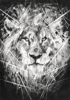 "Title: ""Lion""Size: 16.5 x 23.4""/42 x 59.4cm (A2)Edition: 25Pigment ink print on 315 gsm Acid Free, Cold Press Textured Fine Art Paper. Signed Danny O'Connor, Dated 2013 and Numbered UK Shipping £10International £15"