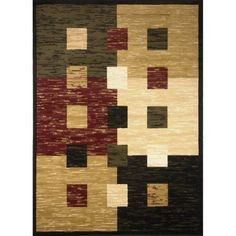 Home Dynamix Optimum Contemporary Polypropylene Rug, Black