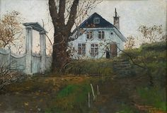 Frits Thaulow 1847-1906: Det gamle Hjem Rentlergården, Kragerø, 1882