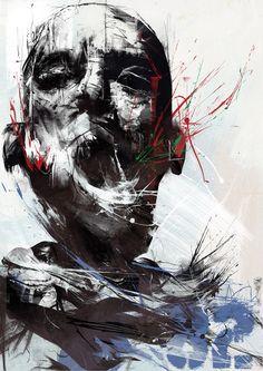 I am absolutely in love with Russ Mills' art! Portraits, Portrait Art, Art And Illustration, Sculpture, Urban Art, Dark Art, Painting Inspiration, Amazing Art, Cool Art