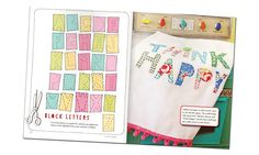 from Amy Powers Inspired Ideas magazine.  Love these letters for tea towels