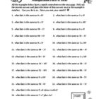 "TIMES TABLES FACTS & PICKS!...NOT BORING ""DRILL WORK"" but these worksheets will make your students ""think"" while reinforcing their times tables. They first have to solve all the facts on side 1 and then match their answers off of side 2. BUT, side 2 is written all out IN WORDS like ""six times four"" or ""nine times seven"" to make sure they ""know their stuff"". Time consuming yet worthwhile. Enjoy!"