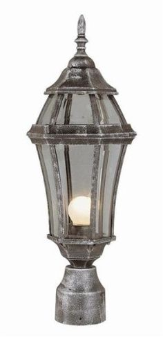 """Trans Globe 4513 BG The Standard - One Light Outdoor Post Mount, Black Gold Finish with Beveled Glass by Trans Globe Lighting. $55.10. Height : 20""""  Diameter / Width : 7.25""""  Lamping : (1) 100W Medium Base (Bulb Not Included)"""