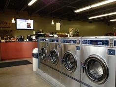 Laundromat in Japer, Canada