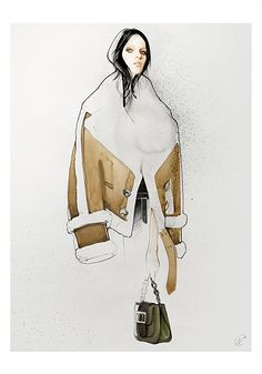 Nuno Da Costa, Week 2 Eduardo, London, Watercolour + Gouache + Photoshop  I love how everything seems so realistic and how the artist uses shades of the same tone of brown to give a suggestive feel to the texture of the coat.