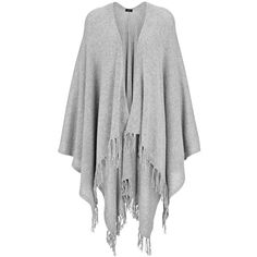 Joseph Spring Cashmere Poncho in GREY CHINE ($920) ❤ liked on Polyvore featuring outerwear, grey chine, cashmere poncho, grey poncho and wrap poncho