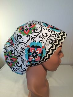 A personal favorite from my Etsy shop https://www.etsy.com/listing/265595315/womens-euro-scrub-hat-scrub-cap-nurse