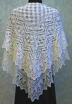 Wow! Wonderful lace pattern; pricey, but worth it if I have time to make this one! Pattern is $12.95