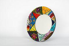 Espejo Redondo Multicolor por Espejosdelalma en Etsy