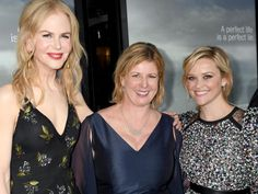 Nicole Kidman, writer Liane Moriarty and Reese Witherspoon. Picture: Foxtel
