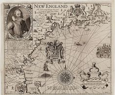 "Title: New England.     Publisher: London: Iames Reeue, [1635, 1637 or 1639]     Physical Description: (W 315--W 319/N 44 1/2--N 42) 0.1 linear: 1 oversized item.     Summary: This map is recognized as the foundation map for New England cartography and one of the most accurate of the period. There are nine known ""states"" of this map that were printed at various times between 1616 and 1639. This is a ""State 9"" version of the map and it was printed in 1635, 1637, or 1639. Simon van de Pass was…"