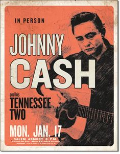 CASH & His Tennessee Two. Metalen wandbord x cm. Johnny Cash, Vintage Concert Posters, Vintage Posters, Music Posters, Country Music Bands, Concert Rock, Rock Band Posters, Tennessee, Music Flyer