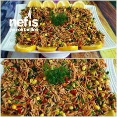 Arpa Şehriye Salatası ((orijinal)) Japchae, Fried Rice, Ethnic Recipes, Food, Rice, Essen, Meals, Nasi Goreng, Yemek