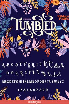Tumbled Serif is a fancy new font that evokes feelings of fairytale magic and mysterious lands. A swirly paradise with a no nonsense serif base to ensure the font is both pretty and legible at the same time. Enjoy and see where this magic takes your designs. All characters are 100% accessible.