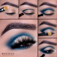 Make-Up Amazing Crease Cut Makeup Mania turquoise Tutorial Amazing Turquoise Cut Crease Makeup Tutorial Brown Eye Makeup Tutorial, Makeup Tutorial Step By Step, Easy Makeup Tutorial, Makeup For Brown Eyes, Eye Shadow Tutorial, Eyeshadow Makeup Tutorial, Makeup Eyeshadow, Eye Makeup Tutorials, Simple Eyeshadow Tutorial