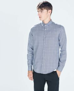 Image 1 of PRINCE OF WALES CHECKED SHIRT from Zara