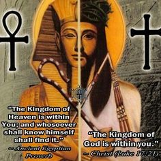 """""""The 'kingdom' of 'heaven' is within You; and whosoever shall know himself shall find it."""" ~ Ancient Egyptian Proverb """"The 'king-dom' of god(s) is within you. Kingdom Of Heaven, The Kingdom Of God, Ancient Aliens, Ancient History, European History, Ancient Egyptian Religion, Black History Facts, Egyptian Art, Egyptian Mythology"""