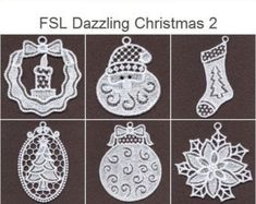 embhome - High Quality Machine Embroidery Designs by embhome Mini Christmas Ornaments, Christmas Applique, Christmas Holidays, Bobbin Lace Patterns, Applique Patterns, Freestanding Lace Embroidery, Embroidered Gifts, Free Machine Embroidery Designs, 4x4
