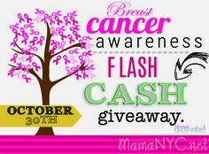 Breast Cancer Awareness Cash Giveaway