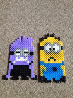 Minions perler beads by Kim Hutton