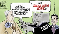THE GREAT LATIN HOPE??!!   Jan/2/15 Political Cartoon by Chan Lowe - US News