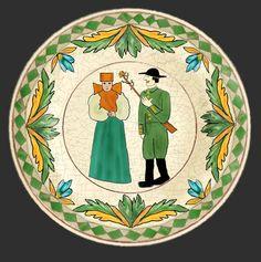 Romania Pottery, Keramik, Ceramique, Ceramica: Transylvania: Korund, Corond, Sibiu Roumania Pottery Plates, Pottery Vase, Ceramic Pottery, Dinnerware Inspiration, Romania People, Country Art, Wedding Table, Folk Art, Museum