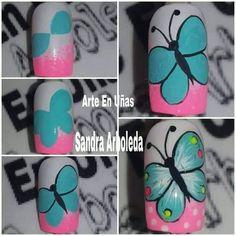 Nail Art Diy, Easy Nail Art, Diy Nails, Manicure, Simple Nail Designs, Nail Art Designs, Nail Art Dotting Tool, Nail Drawing, Cute Spring Nails