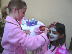girls mask spa birthday party make your own lip gloss, scented lotion and perfume! kids spa party mani pedi. girl spa parties ideas for teen, tween and sweet sixteen