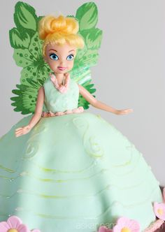 Tinkerbell birthday cake - Ask Anna