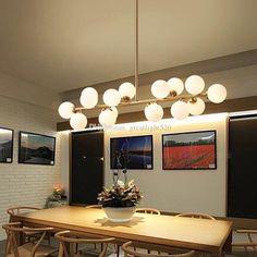 [Visit to Buy] Moden art pendant light gold/black magic bean led lamp living dining room shop glass pendant lamp fixtures White Pendant Light, Glass Pendant Light, Pendant Light Fixtures, Pendant Lamp, Pendant Lighting, Dining Room Lamps, Dining Room Lighting, Dining Rooms, Modern Track Lighting