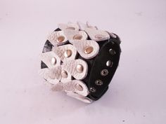 FREE SHIPPING Handmade women bracelet from black by LEATHERELY
