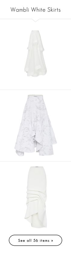 """Wambli White Skirts"" by wambliwakan ❤ liked on Polyvore featuring skirts, aztec…"
