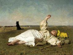 "Józef Chełmoński, ""Babie lato"", 1875, olej na płótnie"