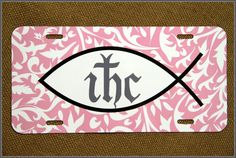 Christian License Plate Car Tag, Religious License Plate, Christ License Plate, Fish Car Tag by ChicMonogram on Etsy