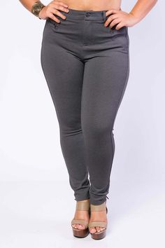 Zipper Front Solid Pants $20.99 also in black & burgundy
