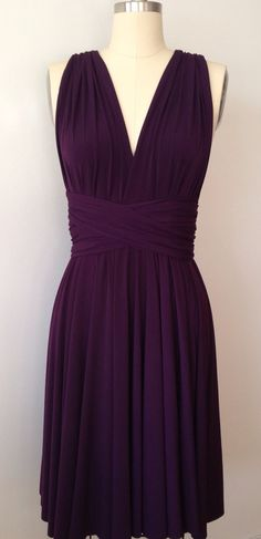 Dark Purple Grape Eggplant Infinity Dress by AtomAttire on Etsy