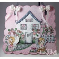 Heartfelt Creations - Fairy Cottage Wall Hanging Project