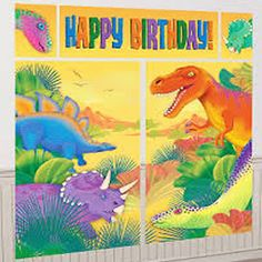 Get ready for amazing adventures full of your favourite Dinosaurs characters! Our Prehistoric Dinosaur Scene Setter Banner is great for indoor and outdoor use, this lightweight vinyl doubles as an impressive background for phototaking!