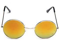 Moderné vintage polarizované slnečné okuliare - pomarančové