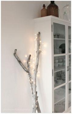 twinkle lights & driftwood