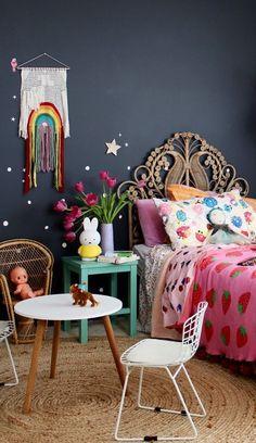 boho kids bedroom | girls bedroom ideas - shop the look on the blog www.fourcheekymonkeys.com