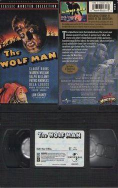 The Wolf Man Claude Rains, Lon Chaney,