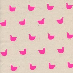 Cotton and Steel House Designer - Black and White 3 - Quackers in Neon Pink