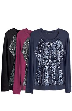 Sequins are always in! Can't get enough of these embellished sweatshirts.