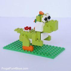Mario LEGO Projects with Building Instructions - Super Mario bday - Lego Mario, Lego Girls, Lego For Kids, Boys, Girls Fun, Lego Design, Lego Duplo, Manual Lego, Modele Lego