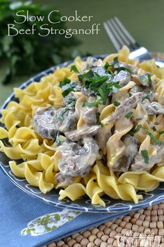 Slow Cooker Beef Stroganoff - Mom On Timeout