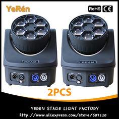 550.00$  Buy now - http://ali86u.worldwells.pw/go.php?t=32423968115 - (2PCS) Led Moving Head Light 6Pcs 15W Quad 4in1 RGBW Led Moving Head Beam DJ Effect Lighting  Light