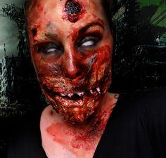 Scary hellish demon  #HALLOWEENMAKEUP #halloween #makeup #sugarskull #sfx #fx #specialeffects #halloweenlooks #halloweenideas #mua