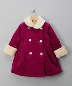 Raspberry Anoushka Coat - Toddler & Girls by Wrap Up Warm: City Kid £45.00